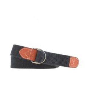 J.Crew Men's Navy Cotton Webbing D-ring Belt